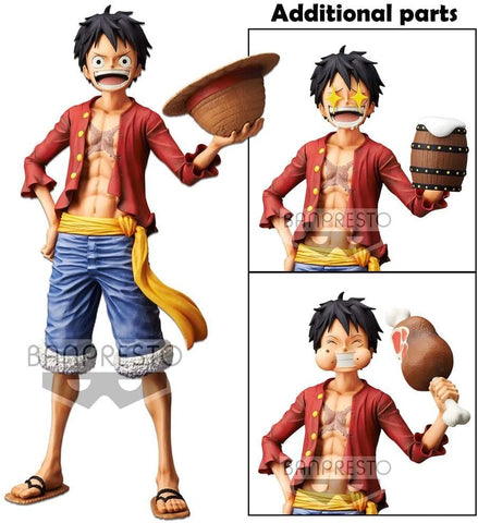 Banpresto One Piece Monkey.D.Luffy Grandista Nero Figure Super Anime Store