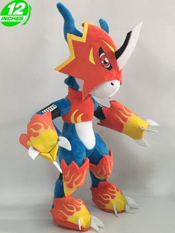 Digimon Adventure Flamedramon Plush Doll 12'' - Super Anime Store FREE SHIPPING FAST SHIPPING USA