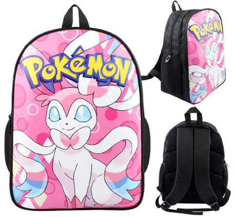 Anime Pokemon Sylveon Backpack Bag - Super Anime Store FREE SHIPPING FAST SHIPPING USA