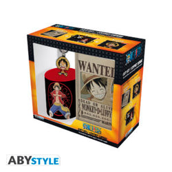ONE PIECE - Monkey D. Luffy 3 Pc. Journal keychain Coffee Mug Gift Set Super Anime Store