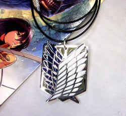 Attack on Titan Shingeki No Kyojin Survey Corps Necklace - Super Anime Store FREE SHIPPING FAST SHIPPING USA