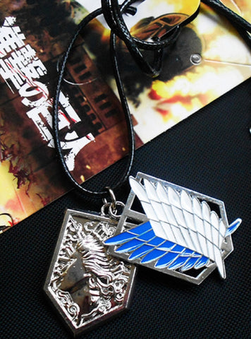 Shingeki No Kyojin Attack on Titan 2 Charm Necklace
