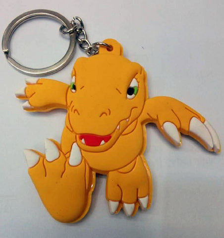Digimon Adventure Agumon Keychain - Super Anime Store FREE SHIPPING FAST SHIPPING USA