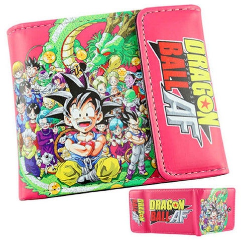 Dragon Ball Z Kid Goku Group Wallet - Super Anime Store FREE SHIPPING FAST SHIPPING USA