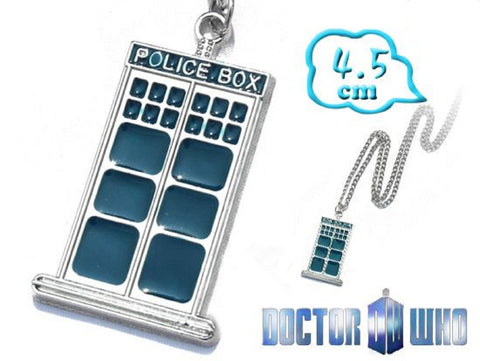 Dr. Who Tardis Necklace - Super Anime Store FREE SHIPPING FAST SHIPPING USA
