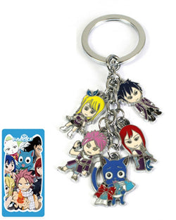 Fairy Tail Characters Keychain - Super Anime Store FREE SHIPPING FAST SHIPPING USA