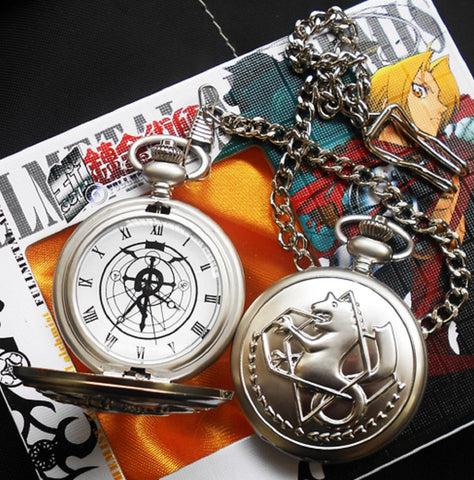 Fullmetal Alchemist Pocket Watch - Super Anime Store FREE SHIPPING FAST SHIPPING USA