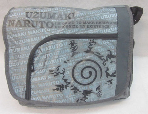 Naruto Grey Messenger Bag - Super Anime Store FREE SHIPPING FAST SHIPPING USA