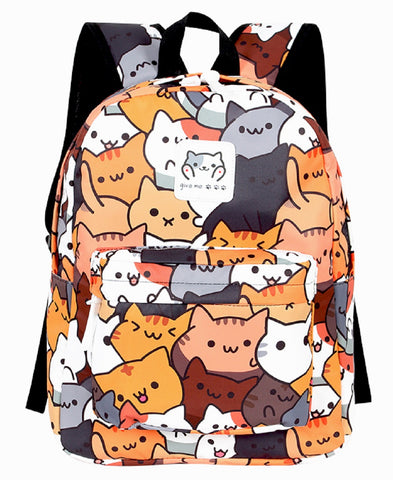 Neko Atsume Backpack Bag - Super Anime Store FREE SHIPPING FAST SHIPPING USA