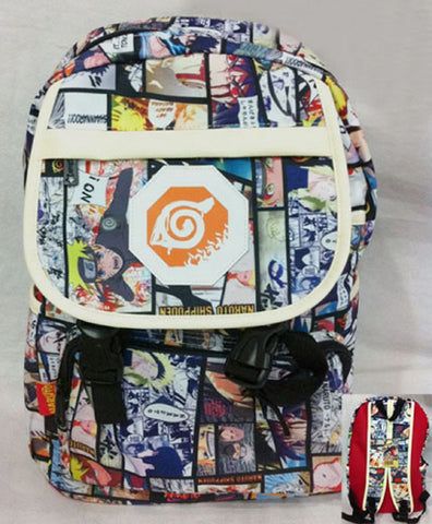 Naruto Backpack Bag Collage - Super Anime Store FREE SHIPPING FAST SHIPPING USA