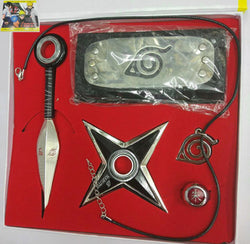 Naruto Kunai Konoha Headband Necklace Set - Super Anime Store FREE SHIPPING FAST SHIPPING USA