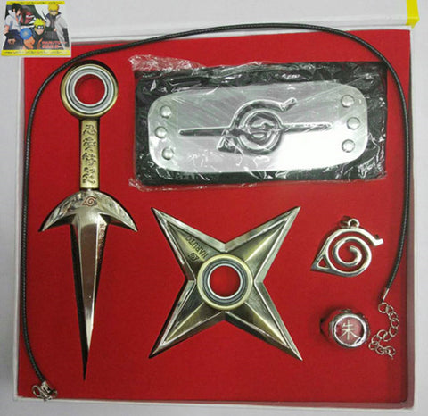 Naruto Kunai Konoha Exile Headband Necklace Set - Super Anime Store FREE SHIPPING FAST SHIPPING USA