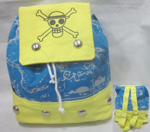 One Piece Yellow Backpack Bag - Super Anime Store FREE SHIPPING FAST SHIPPING USA
