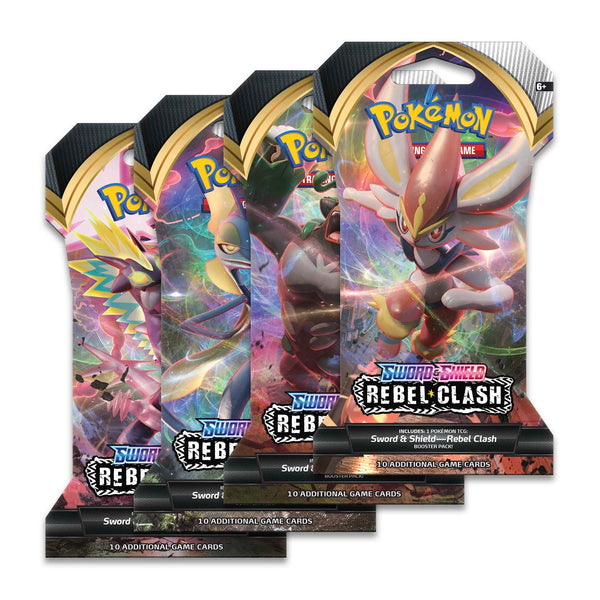 Pokémon TCG: Sword & Shield-Rebel Clash Sleeved Booster Pack (10 Cards) Super Anime Store