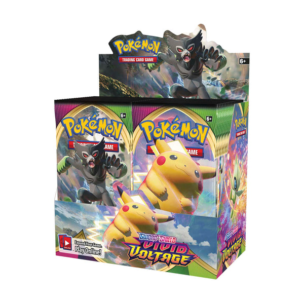 Pokémon TCG: Sword & Shield-Vivid Voltage Booster Display Box (36 Packs) Super Anime Store