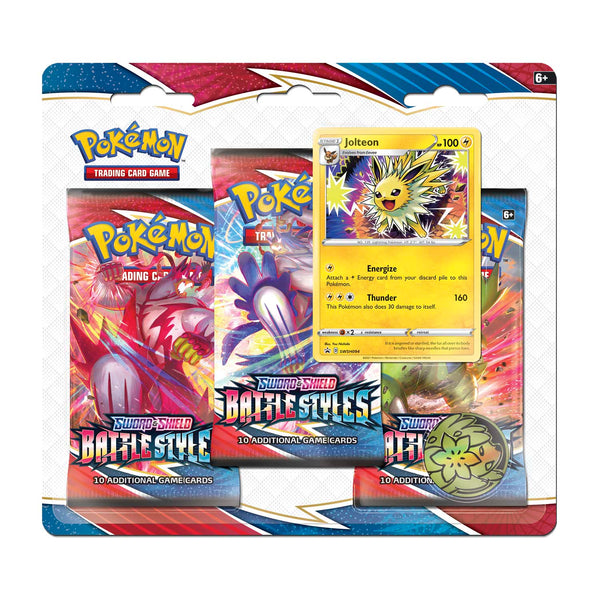 Pokémon TCG: Sword & Shield-Battle Styles 3 Booster Packs, Coin & Jolteon Promo CardSuper Anime Store