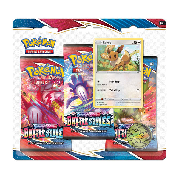 Pokémon TCG: Sword & Shield-Battle Styles 3 Booster Packs, Coin & Eevee Promo Card Super Anime Store