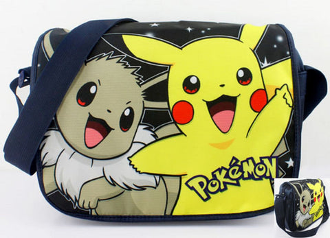 Eevee & Pikachu Messenger Bag - Super Anime Store FREE SHIPPING FAST SHIPPING USA