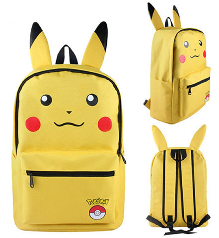 Pokemon Pikachu Yellow Backpack Bag - Super Anime Store FREE SHIPPING FAST SHIPPING USA