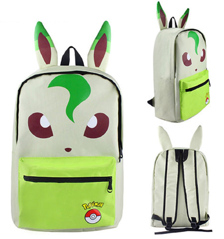 Leafeon Backpack Bag - Super Anime Store FREE SHIPPING FAST SHIPPING USA
