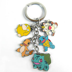 Bulbasaur Charmander Squirtle Psyduck Meowth Keychain - Super Anime Store FREE SHIPPING FAST SHIPPING USA