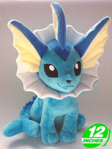 Vaporeon Sitting Plush Doll 12 Inches - Super Anime Store FREE SHIPPING FAST SHIPPING USA