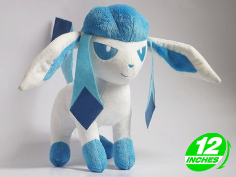 Glaceon Plush Doll 12 Inches - Super Anime Store FREE SHIPPING FAST SHIPPING USA