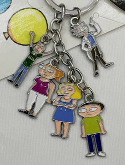 Rick And Morty Keychain - Super Anime Store FREE SHIPPING FAST SHIPPING USA