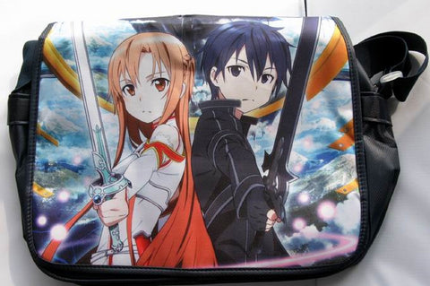 Sword Art Online Asuna & Kirito Mesenger Laptop Bag - Super Anime Store FREE SHIPPING FAST SHIPPING USA