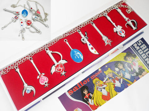 Sailor Moon Necklace Set - Super Anime Store FREE SHIPPING FAST SHIPPING USA