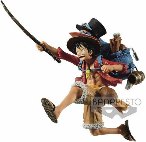 One Piece Three Brothers Monkey D Luffy Figure - Super Anime Store FREE SHIPPING FAST SHIPPING USA