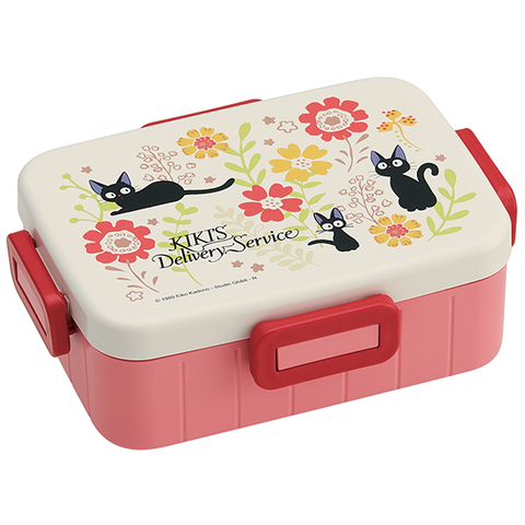 "Traditional Jiji and Flower Bento Box With Divider 650ML ""Kiki's Delivery Service"", Skater Bento Super Anime Store"