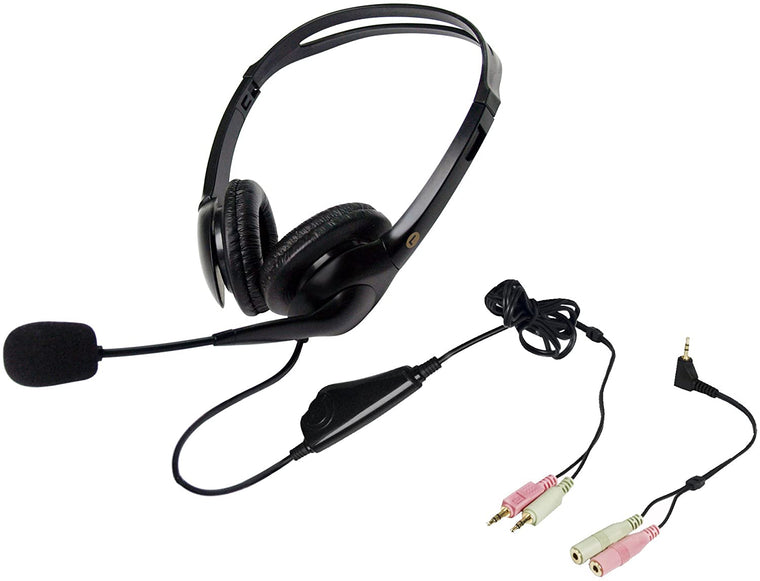 Geemarc CLA3 Hearing Aid Compatible Headset with Microphone (Black)