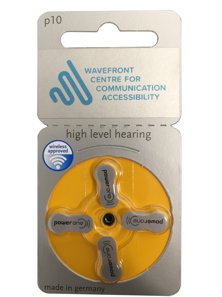 Power One P10 (4 Cell) Hearing Aid Battery