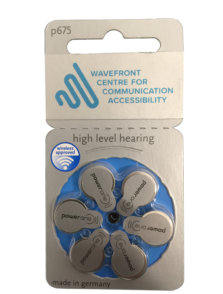 Power One P675 (6 Cell) Hearing Aid Battery