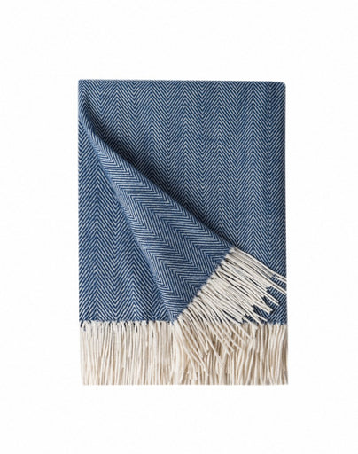 Navy & Ivory Throw Blanket