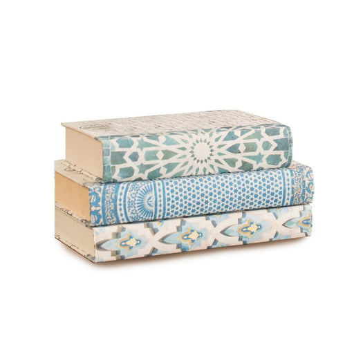 Individual Product - ALHAMBRA DECORATIVE BOOKS THREE VOLUME SET <br>Green Sunburst, Blue Hamsa, White Mosaic