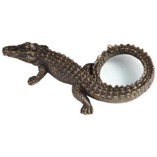 Individual Product - ALLIGATOR MAGNIFYING GLASS SCULPTURE