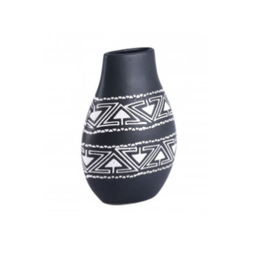 Individual Product - BLACK & WHITE TAOS VASE- LARGE