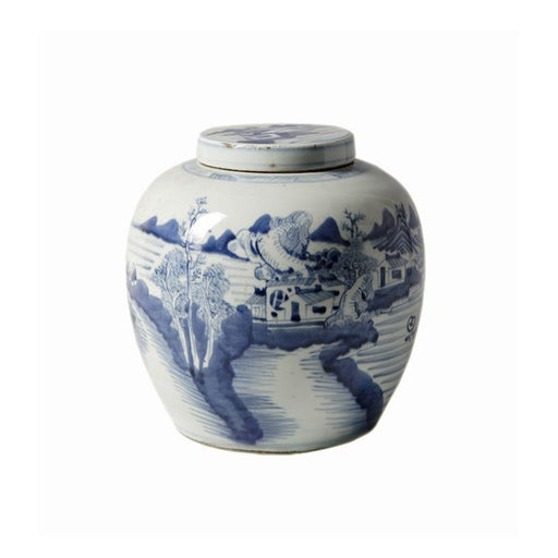 Individual Product - BLUE & WHITE CERAMIC ANCESTOR JAR