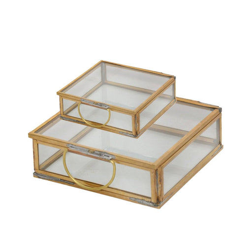 Individual Product - BRASS & GLASS DECORATIVE BOXES