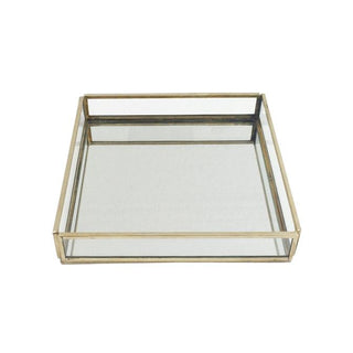 Individual Product - Brass & Glass Square Tray