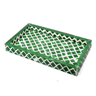 Individual Product - EMERALD GREEN INLAID TRAY