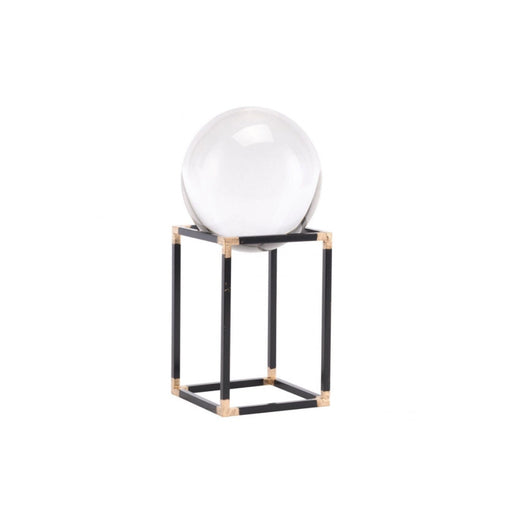 Individual Product - GLASS ORB ON IRON & GOLD STAND
