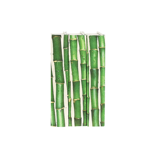 Individual Product - GREEN AND WHITE DECORATIVE BAMBOO BOOKS