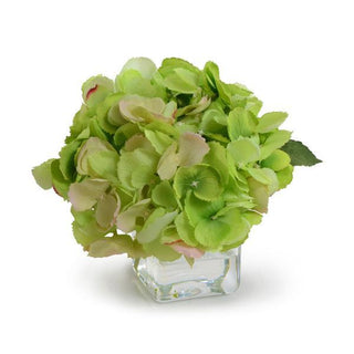 Individual Product - GREEN HYDRANGEA CUTTING IN GLASS VASE
