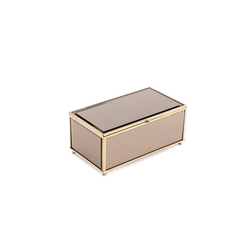 Individual Product - LARGE BRONZE AND GOLD MIRRORED BOX