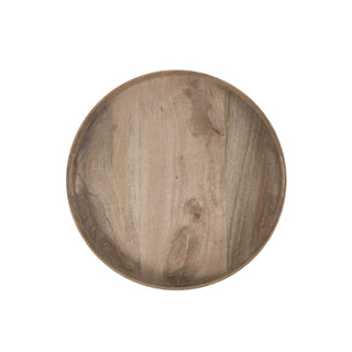 Individual Product - LARGE ROUND RUSTIC WOODEN TRAY