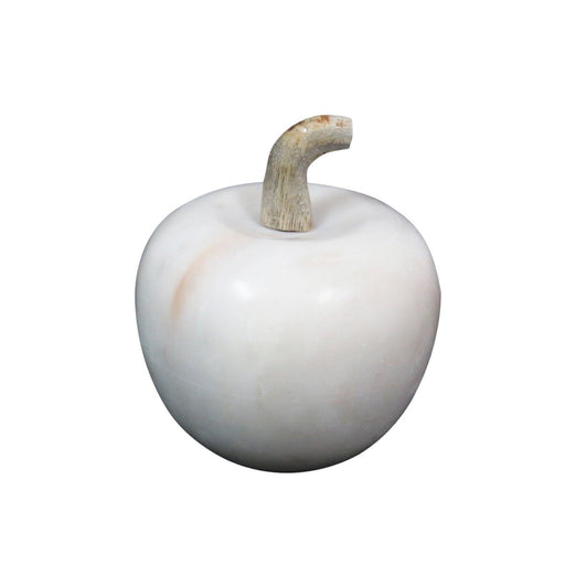 Individual Product - MARBLE APPLE ACCENT WITH WOODEN STEM