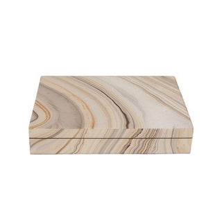 Individual Product - MARBLED LACQUER KEEPSAKE BOX - LARGE